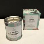Geurkaarsje klein - Happy Birthday